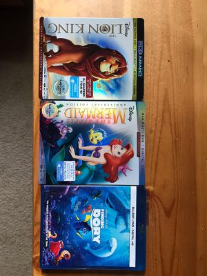 3 disney blue ray dvds for Sale in Kissimmee, FL