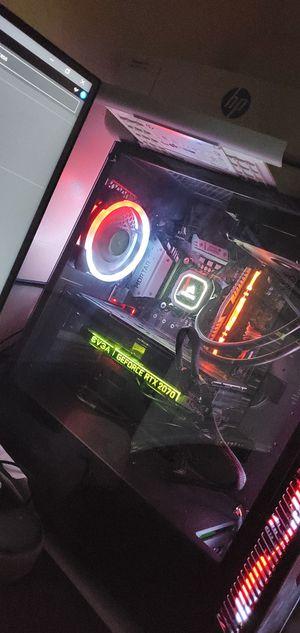 """i5-9600k, RTX 2070, 24GB, 1240GB SSD, 32"""" 165hz monitor, corsair watercooled, glass RGB for Sale in Fairfax, VA"""