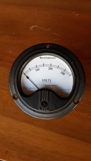 Vintage 1940's Westinghouse DC Voltmeter U.S.N. Type CAY-22143 for Sale in Seattle, WA