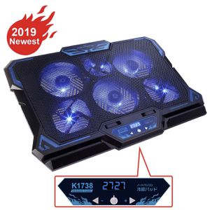 """KEYNICE Laptop Cooling Pad, Notebook Cooler with 6 Quiet Fan, Dual USB Port, 5 Wind Speed Adjustable, Blue LED Light, Fit 12""""-17"""" Computer, Portable for Sale in Monterey Park, CA"""