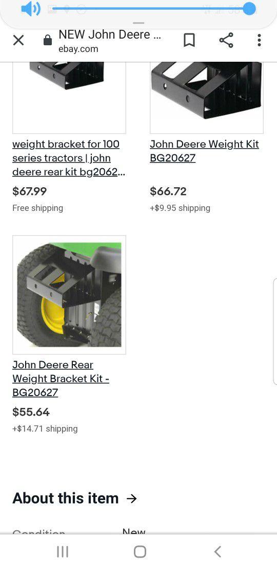 John Deere 100 Series Rear Weight Bracket