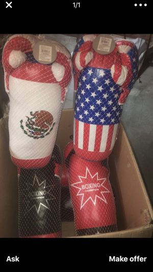 15 dollars each new punching bags no more American one for Sale in San Bernardino, CA