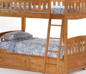 Solid Oak Twin Bunk Beds for Sale in Seattle,  WA