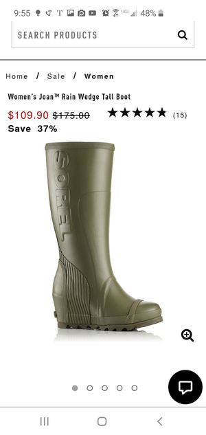 Sorel tall wedge rain boots for Sale in Roseville, CA
