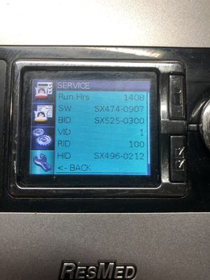 RESMED- H5i-S9- Autoset Cpap Machine -1408 run hours-W/Humidifier + sd card for Sale in Corona, CA