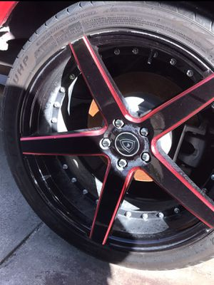 20 Inch Black And Red Rims for Sale in Mesquite, TX