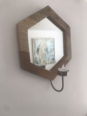2x Wall art/Mirrors with candle holders for Sale in Herndon, VA