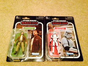 Star Wars Vintage Collection Cassian Andor and Stormstrooper for Sale in Fontana, CA