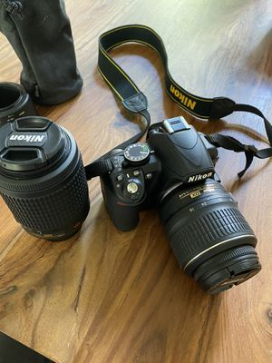 Nikon D3100 + Extra lense for Sale in Grapevine, TX
