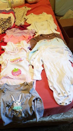 Girl newborn clothes and diapers. for Sale in Mill Creek, WA
