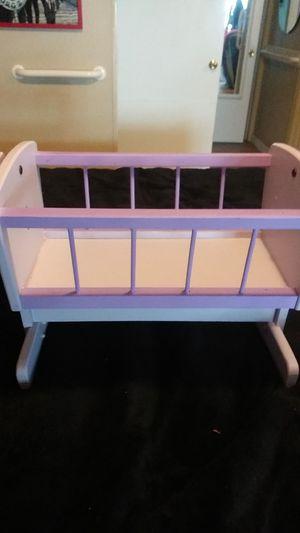 Purple Wood Rocking Doll Cradle for Sale in Gresham, OR