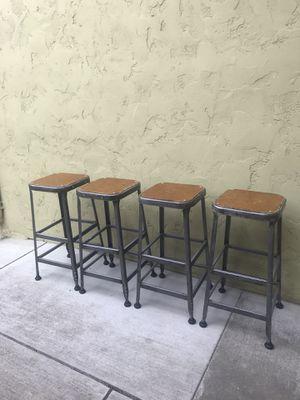 Vintage Lyon Industrial Metal Stool - set of 4 for Sale in Monterey, CA
