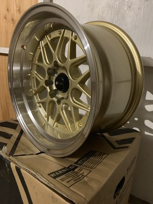 "15"" Gold Low offset Rims Set 4x100/114 15x8"" +0 for Sale in ROWLAND HGHTS, CA"