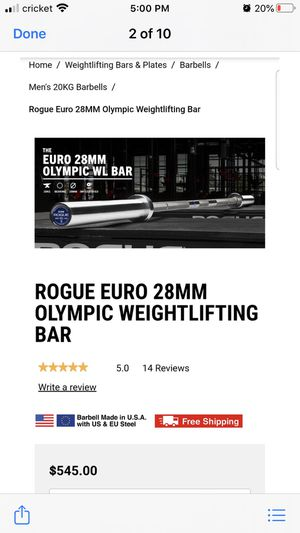 Brand new rogue Olympic weightlifting bar for Sale in Tolleson, AZ