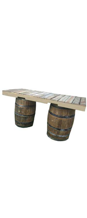 Rustic bar oak whiskey wine barrel for decor restaurant sports bar smoke shop tiki hut patio backyard furniture for Sale in Virginia Gardens, FL