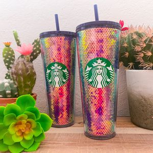 Sequined iridescent Starbies Tumblers ! for Sale in Miami, FL