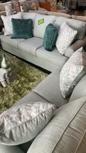 New 2020 Ashley Furniture Sofa and Love Seat w/4 PIllows Included PROM for Sale in Euless, TX