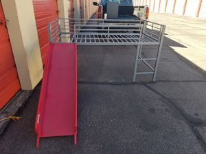 Kids left style bed frame with slide for Sale in Tucson, AZ