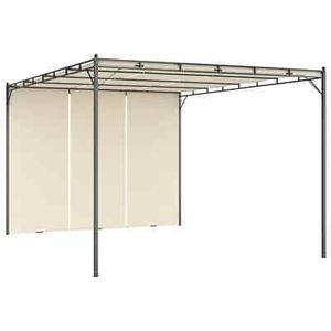 """Garden Gazebo with Side Curtain 157,5""""x118,1""""x88,6"""" Cream Outdoor Tent for Sale in Los Angeles, CA"""