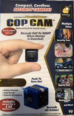Cop Cam, Brand New Complete ! (open box) for Sale in Colton, CA