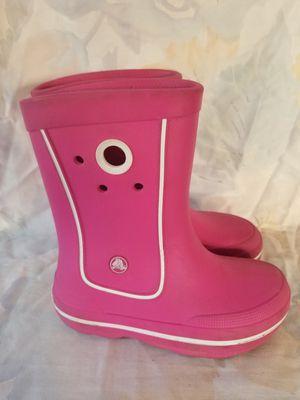 Crocs rain boots junior 1M for Sale in Modesto, CA