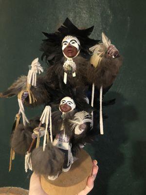 Native American statue dolls figurines decor boho collectible for Sale in Phoenix, AZ
