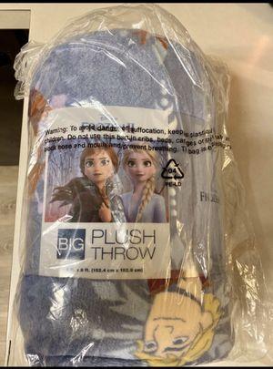 New Disney Frozen Plush Blanket Oversized Anna Elsa for Sale in Duncanville, TX