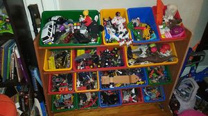 Kids toy bin stand with 12 bins for Sale in Lynn, MA