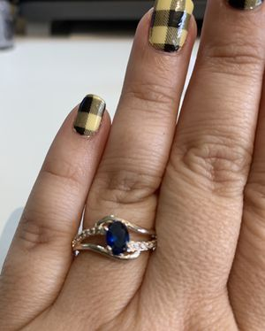 Sapphire Blue Sterling Silver Ring Size 7 for Sale in Orlando, FL