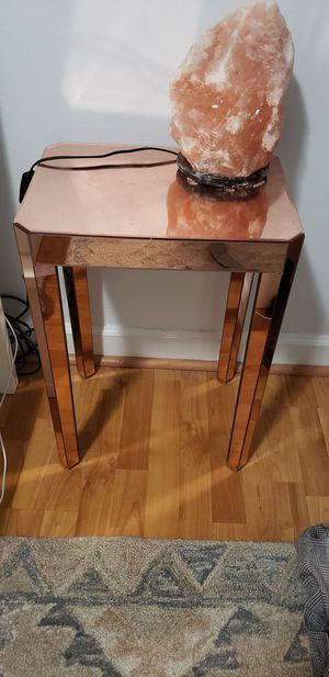 Rose gold glass nightstand for Sale in Arlington, VA