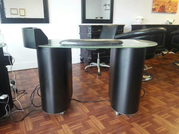 Nail salon furniture equipment. Manicure Nail tables, Pedicure massage chairs