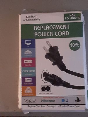 Replacement power cord for Sale in Akron, OH