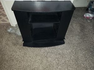 TV stand. Black 2 shelves for Sale in Colorado Springs, CO