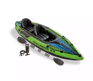 Intex Challenger K2 Kayak, 2-Person Inflatable Kayak Set with Oars and Pump - NEW!!! for Sale in Denver, CO
