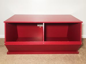 Kids Boys Girls Red Toy Bin Box Cubby Chest for Sale in Boulder, CO