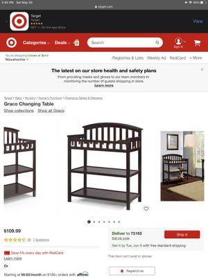Graco Changing Table for Sale in Midlothian, TX