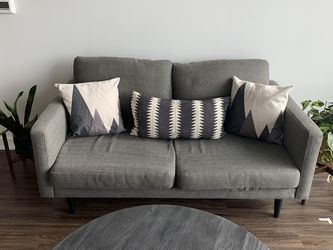 Mid Century Modern Cb2 Macy's Loveseat Couch Futon for Sale in Houston,  TX