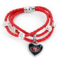 San Francisco 49ers Braided Cords Bracelet for Sale in Baldwin Park,  CA