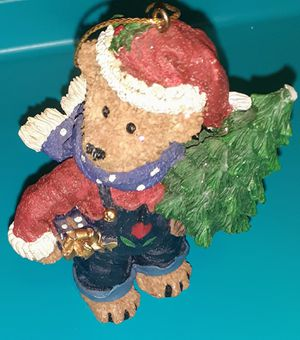 Vintage Kirkland Signature brown bear holding christmas tree for Sale in Langhorne, PA
