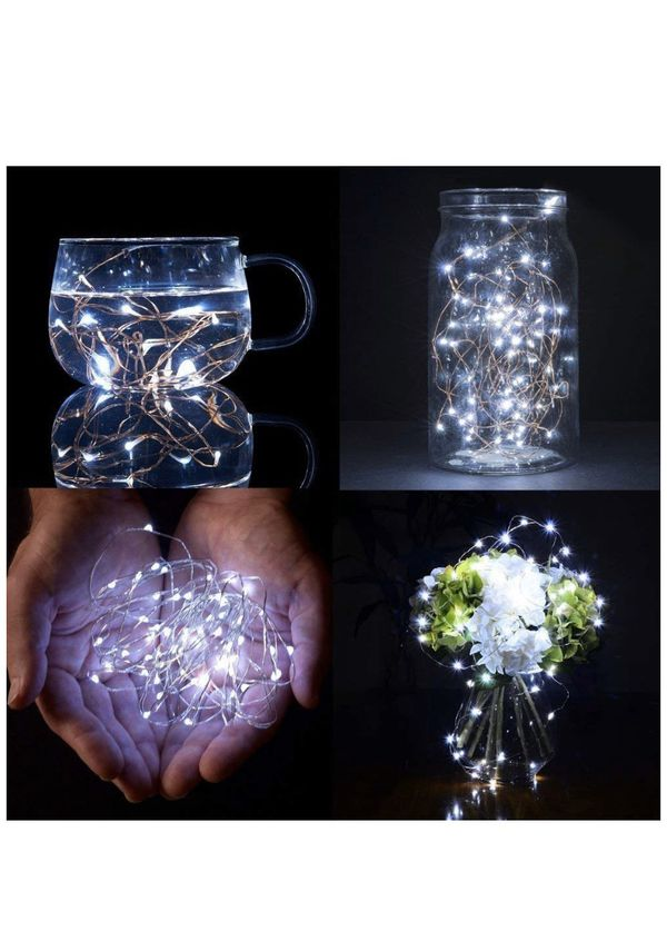 Christmas Lights 100 LED 10m Battery Operated Tree Fairy Lights Timer Indoor Outdoor Festive Wedding Bedroom Novelty