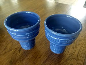 Longaberger Pottery Ice Cream Cone Cups for Sale in Chandler, AZ