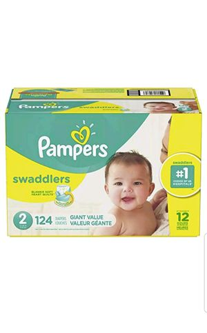 Diapers Size 2 , 124 Count -Pampers Swaddlers Disposable Baby Diapers for Sale in Miami, FL