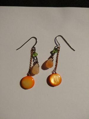 Mother of pearl earrings for Sale in Santa Fe Springs, CA