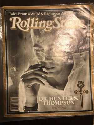 Hunter s Thompson rolling stone for Sale in Detroit, MI