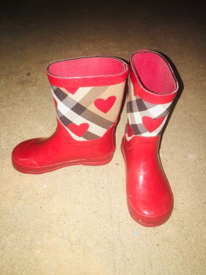 Kids Burberry rain boots for Sale in Irving, TX