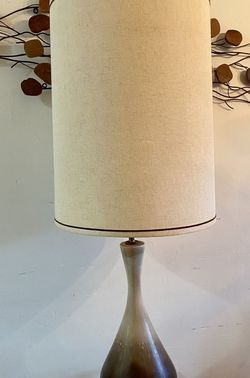Mid Century Ceramic / Brass Lamp, Original Shade for Sale in Tacoma,  WA