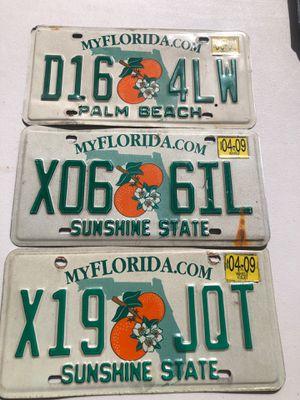 license plates lot of 3 for Sale in Miami, FL