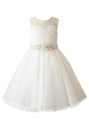 Ivory Lace Tulle Wedding Flower Girl Dress size 3 Toddler for Sale in Shawnee, KS