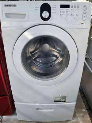 """""""SAMSUNG"""" FRONTLOADER WITH PEDESTAL WASHER KING SIZE CAPACITY 4.3 cu ft for Sale in Phoenix, AZ"""