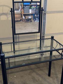 Queen Matress And Glass Desk for Sale in Covington,  WA
